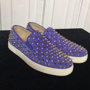 Christian Louboutin purple Roller Studded Sneaker
